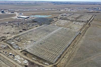 Construction of Aurora Sun, March 2019 (CNW Group/Aurora Cannabis Inc.)